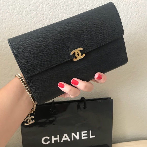 c60b755fbf5634 CHANEL Handbags - CHANEL Black Caviar Large Wallet CC Clutch Purse